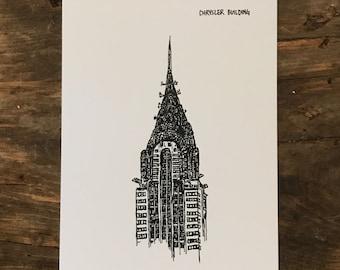 Chrysler Building Notecard