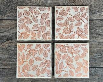Copper Leaf Coasters