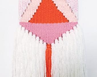 SALE | Woven Wall Hanging | Geometric | Triangular modern Woven wall art | Wall weaving | Tapestry wall hanging | Fiber art