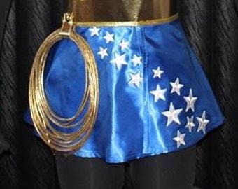 Wonder skirt diagonal star pattern woman tv show