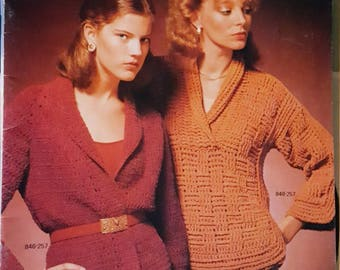 1979 Bernat Fashion Gems Knitting Pattern Book Number 257