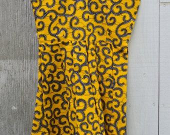 Ankara dress, African print dress, African dress, Ghana fabric, Wax print cloth , Ankara clothing, Ankara fabric, Dress for girls, Handmade