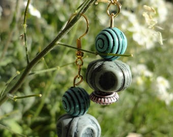 "Earrings ""summer blue"""