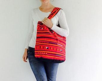 Lisu Patchwork Shoulder Bag Purse. Thailand