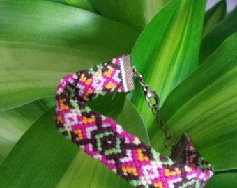 Colourful knotted festival Friendship Bracelet