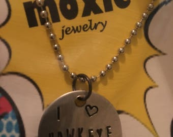 I love Hawkeye necklace or keyring the Avengers