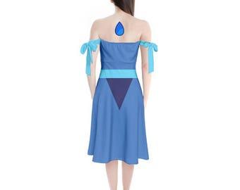 Lapis Lazuli Cosplay Dress - Skater Dress Steven Universe Dress Crystal Gem Dress Lapis Lazuli Dress Nerdy Dress Geeky Dress Oddity Apparel