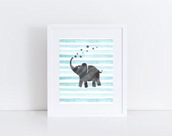 Elephant Nursery Art Elephant Nursery Decor Nursery Wall Art Nursery Decor Baby Girl Nursery Baby Boy Nursery Nursery Prints Kids Room Decor