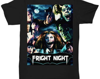 Fright Night 1985 Horror Movie Vampires Dracula classic cult vampire film shirt Tee T-shirt  S - 5XL  6 Colours