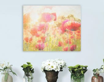 Red Poppy, Poppies watercolor, Poppies art print, Floral room Decor, Red Poppy, Poppies, Red flowers decor, Red Poppy Wall Art, Red flowers