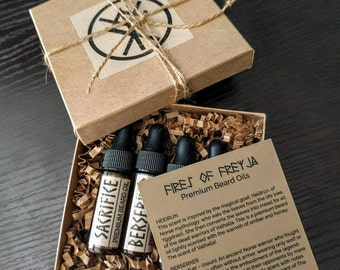 Premium Viking Beard Oil Sampler Pack | Sample Kit