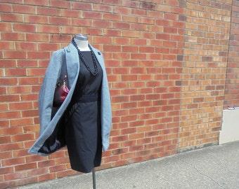 60's Vintage Ladies Houndstooth Coat, Made in England, Ladies Coat, Vintage Coat