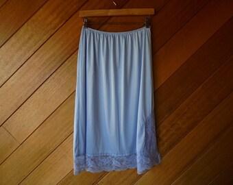 Ladies Blue Petticoat, Vintage Petticoat, Ladies Half Slip, Vintage Berlie
