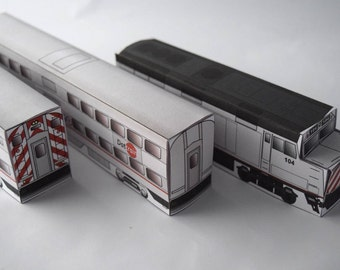 Do It Yourself Paper Train Template California West Coast Craft Lover Model Train Set Paper Craft Activity Kit For Kids