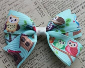 Girls Owl Hair Bow, toddler hair bows, cute hair, owl party favors