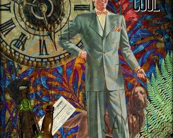 40's Theme Collage Altered Art Ephemera Altered Art, Instant Download, Digital Original Sheet