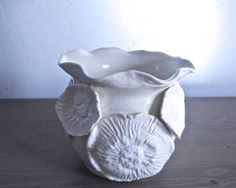 Large Coral Vase