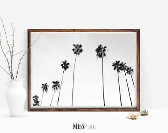 Black and White Palm Tree Print, Palm Trees Photo, Palms Wall Art, Tropical Wall Art, Tropical Art Decor, Palms, Palm Tree Photography Print
