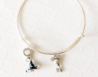 Mickey Mouse Wedding ~ Disney Bangle ~ Mickey Mouse Bracelet ~ Disney Bracelet ~ Girlfriend Gift Disney ~ Disney Jewelry