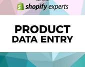 Shopify Product Data Entry