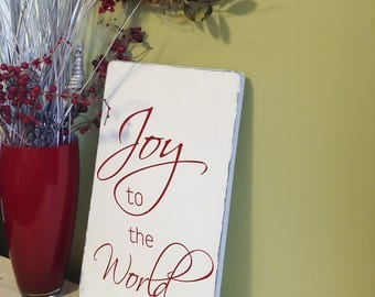 Christmas Sign, Joy to the World, Joy to the World Sign, Christmas Decor, Joy to the World Wood Sign