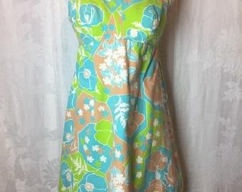 288. VINTAGE- Floral Mini Dress