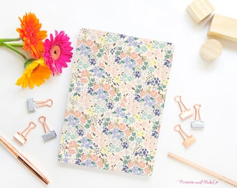 A5 Floral Notebook, A5 Sketchbook, Notebook, Plain Paper Notebook, Notebook Gift, Floral Stationery, Designer Stationery, Pattern Notebook
