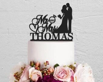 Wedding Cake Topper,Mr And Mrs Cake Topper,Kissing Couple Topper,Bride And Groom Cake Topper,Custom Cake Topper,Personalized Cake Topper