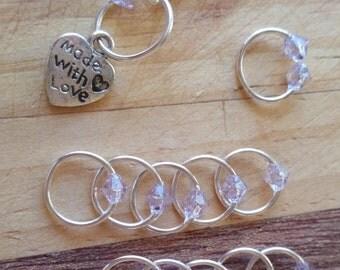 Stitch Marker Set 'Silver/Lilac'