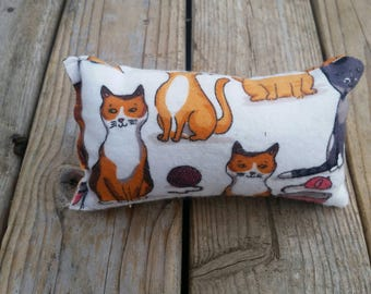 Large white with cats catnip pillow