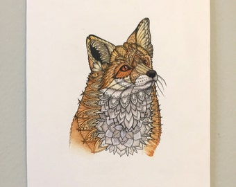 Fox Portrait Painting