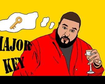 DJ Khaled Pop Art Illustrated Postcards