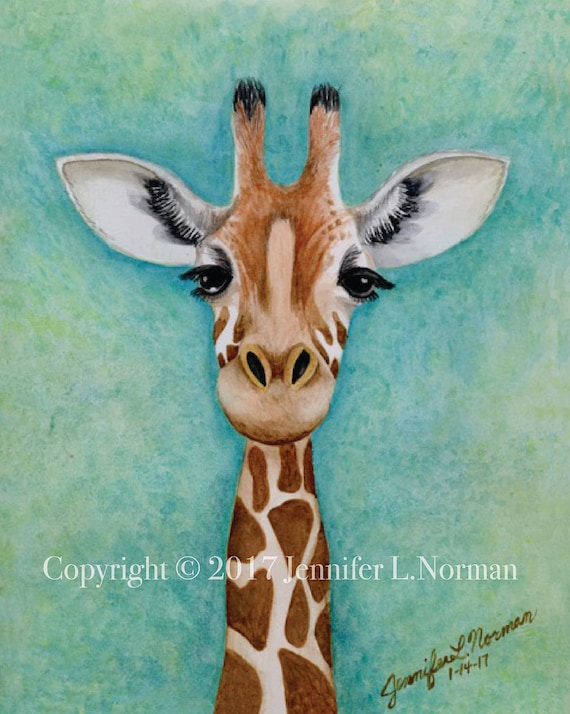 Giraffe Nursery Decor Giraffe Art Print By Artisticheartfire