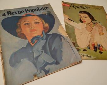 magazine - vintage - collection - popular magazine - 1938 - 1954