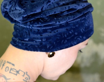 Blue Beanie, embossed Nicky Jersey size 56