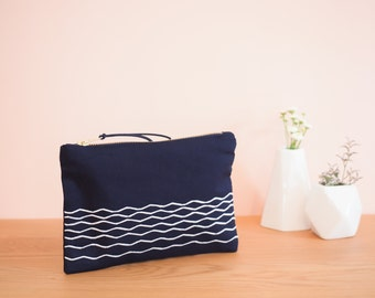 Waves - Navy blue cover