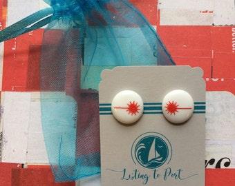Laser Sailboat Earrings