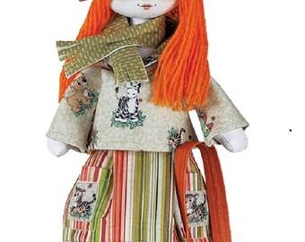 Doll Traveler Girl Sewing Kit Textile carcass doll  Interior Doll  Nova Sloboda