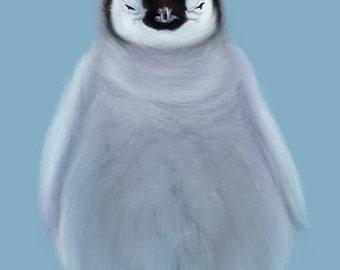 Just a little Penguin-Digital Print