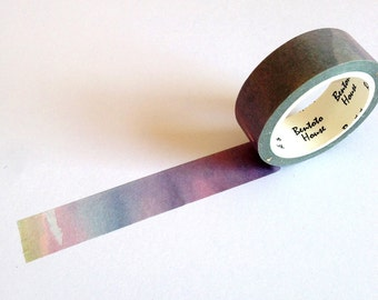 Watercolour Washi Tape, planner supplies, japanese masking tape, rainbow washi tape, pretty washi tape, gift wrapping tape, colourful tape