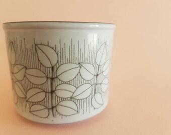 Hornsea Charisma Sugar Bowl - Jam Jar - Leaf - Retro Vintage