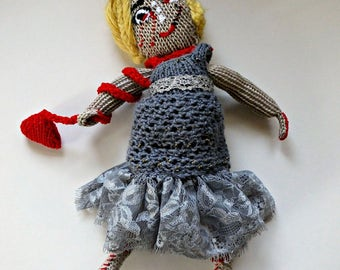 Hand Knitted Zombie Walking Dead Perfect Gift For Him Her Living Dead Horror One Of A Kind Unique