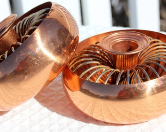 Copper Candleholders Coppercraft Guild Mid-Century