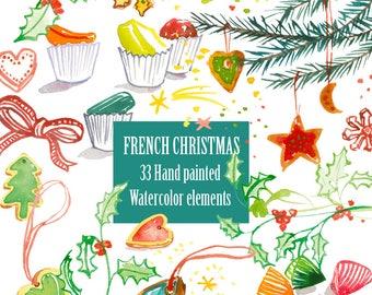 Weihnachten clipart   Etsy   {Französische küche clipart 64}