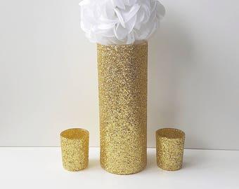 Wedding Centerpiece, Gold Decor, Gold Table Decor, Glam Wedding, Copper Bronze, Wedding Decor, Flower Kissing Ball, Birthday Party Decor