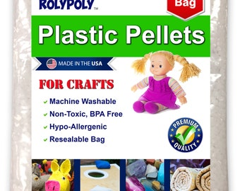 Non-Toxic Plastic Craft Poly Pellets:  Use for Weighted Blankets, Dolls/Toys, Cornhole/Bean Bags, I-Spy Bags, Draft Stoppers