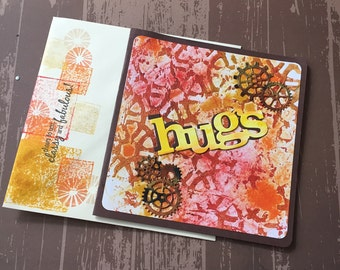 Handmade Card | Hugs Handmade Card | Blank Card