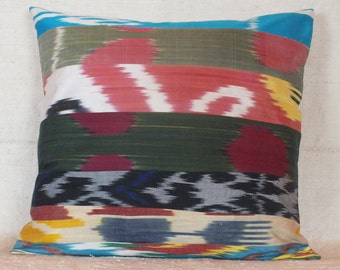 Turkish Ikat Pillow, 19x18 Pillow Case