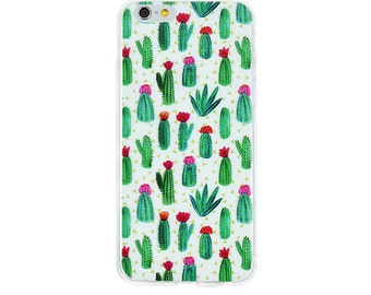 Cactus Plant Case for iPhone  5/ 5S /6/ 6S Soft Silicone Design