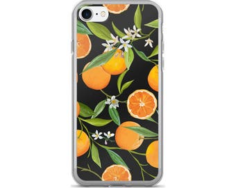 Orange iPhone Case, Phone Case Orange, Orange Phone Case, Protective iPhone Case, iPhone 7 Case, iPhone 6 Case, iPhone 5 Case, Orange Gifts